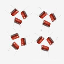 Condensador metalizado de la película de poliéster Mkt-Cl21 10UF 5% 100V para la lavadora