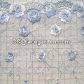 Embroidery Mesh Lace Fabric Using in Clothing