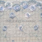 Bordado malla encaje tejido usando ropa