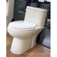 Aprobación de cUPC Piso montado S-trampa baño de cerámica de una pieza inodoro wc