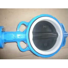 Disc dilapisi PTFE Wafer Butterfly Valve