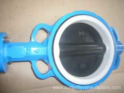 Disc Coated PTFE Wafer Butterfly Valve