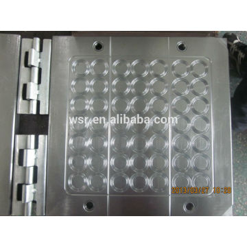 compression mold for rubbr grommet molded