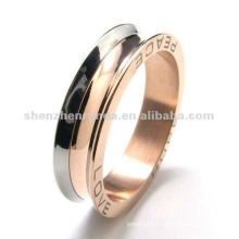 316 stainless steel letter figure rose gold ring designs for men
