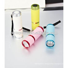 LED flashlight glow in the dark
