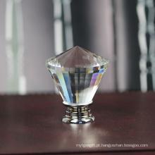 Enfrenta o punho bonito do armário do vestuário do cristal do diamante