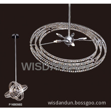 rotatable crystal glass pendant lights