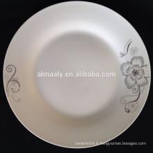 assiette en gros en gros, assiette en porcelaine chinoise, assiette moderne