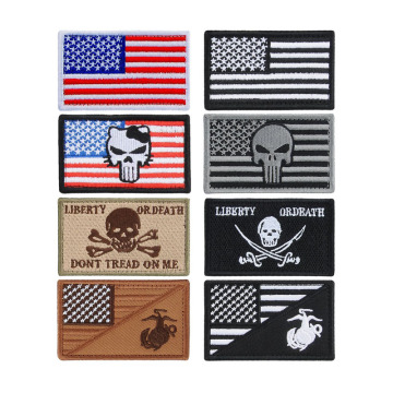 USA Tactical Flag Embroidered Patch With Velcro