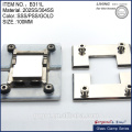 die-cast 304SS 180 degree glass to glass hinge