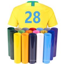 Wholesale New Design High elasticity PVC Vinly Heat Transfer film roll for Sport Clothing Custom