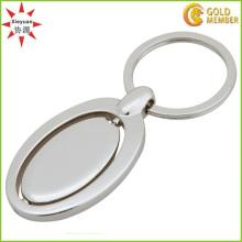 Kann kundenspezifische Logo-Metall drehende Schlüsselringe tun