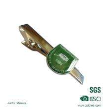 Pince à cravate personnalisée en émail dur / pince à barre en métal argentée