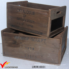 Rual Área Reciclado Abeto Antique Box Madeira Blackboard