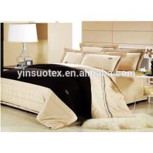 Heißer Verkauf Gans unten Polyester Füller Ebene gefärbt Bettwäsche-Sets