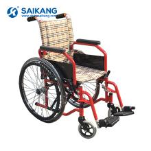 Cadeira de roda manual dobrável de alumínio destacável SKE-B2 para a venda