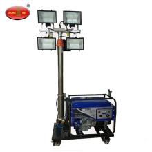 Gasoline mobile lighting tower mobile lighting car