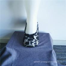 Meias chinelos da moda com sola macia para interiores impressos