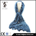 Blended material soft feel fashion scarf with flocking