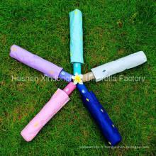 Parapluies automatiques à trois plis UV en aluminium de qualité (FU-3621AFA)