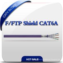 F / FTP Cabo de instalação de par trançado Cat 6A blindado Cabo de comunicação de rede LAN