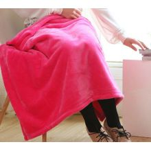 Diskaun Warna Pepejal Coral Fleece Blanket Throw