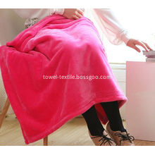 Discount Solid Color Coral Fleece Blanket Throw