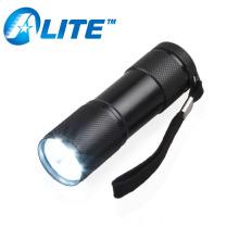 Ningbo Factory Wholesale Price Aluminum MINI Hand 9 LED Torch