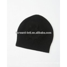 Wholesale top sale unisex plain 100% cashmere knitted hats model hat to knit free