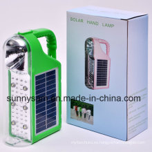 Linterna solar que acampa multifuncional del LED con el cargador solar y de la CA