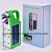 Lanterne solaire multifonctionnelle de camping LED avec le chargeur solaire et alternatif