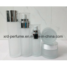 Envase cosmético de cristal de la cristalería de la botella de cristal