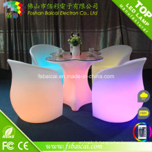 Mobilier LED, table d'éclairage, table basse