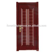 Portas de madeira moldadas da melamina de alta qualidade para a porta do banheiro