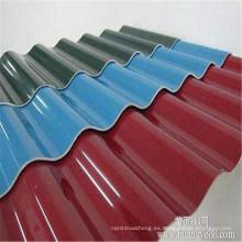 Hoja de tejado compuesto transparente de la hoja del tejado de la onda de FRP