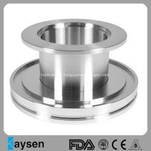 Adaptador tubular com redutor ISO-KF de aço inoxidável