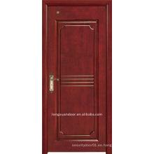 Puerta de madera de la pintura.