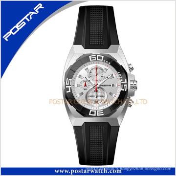 Psd-2344 montre-bracelet à quartz classique mode avec bande en cuir véritable