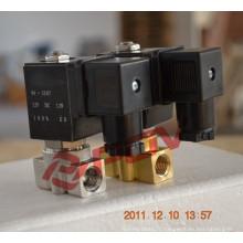 Vanne électromagnétique à haute pression 24V DC à gaz normalement fermée