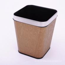 Gold Chinesische Schriftzeichen Design Mülleimer mit Kunstleder beschichtet