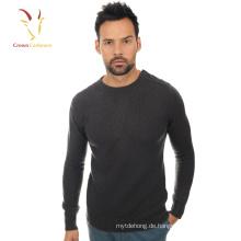 Merino Wolle gestrickt Herren Rundhals Pullover Pullover