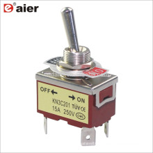 12MM 15A 250V ON-OFF Double Pole Single Throw Toggle Switch 4P