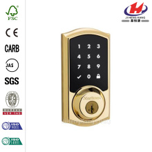 Single Cylinder Satin Nickel Electronic Deadbolt Featuring SmartKey