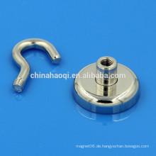 33LB Standard silberne Neodym Seltenerdmagnet mit Haken