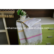 Woven Jacquard Cotton/Acyrlic Blended Throw (NMQ-CAT001)