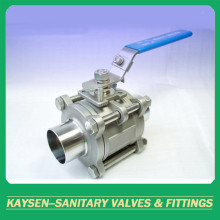 3A 3PC Sanitary Ball Valve Weld Type