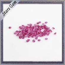 Piedra de rubí preciosa natural de tamaño pequeño natural 2 mm
