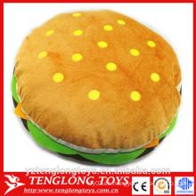 Fábrica de yangzhou peluche peluche hamburguesa juguete, juguete de peluche hamburguesa