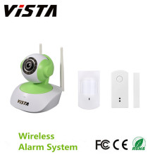 1.0MP Home Security Kit IP-Kamera Pir Tür / Fenster-Sensor