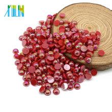 Fabricante Fornecimento Flatback ABS Pérola Nail Art Plástico Pérolas Beads para o Vestido De Casamento, A1-Lt.siam AB